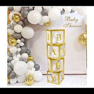 Gold Transparent BABY Decor Blocks